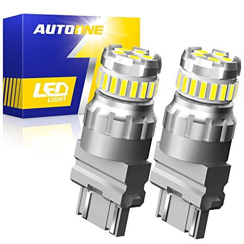 AUTOONE 3157 LED Bulbs White, 3056 3156 3057 4057 4157 LED Bulbs for Backup Reverse Blinker Brake Tail Lights, 6500K, Pack of 2