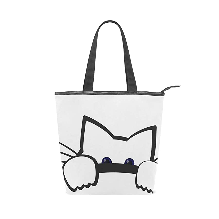 ベックス現代の乱気流キャンバスバッグ トートバッグ ハンドバッグ 手提げ 可愛い 猫柄 大容量 通勤通学 メンズ レディース
