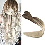 Full shine 16 inch Ombre Sew in Hair Extensions Remy Hair Extensions Ombre