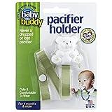 Buddy(ベビーバディ) Baby Buddy(ベビーバディ) Baby Buddy ベビー バディ Bear Pacifier Holder ホワイトベア マルチ クリップ(シングル) Olive オリーブ
