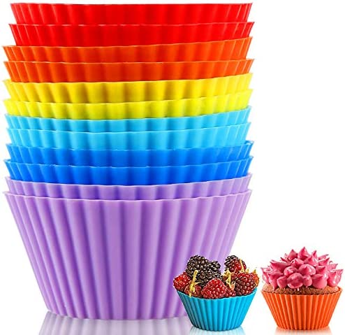 Silicone Baking Cups Reusable Muffin Liners BPA Free Non stick Cake Molds Set Silicone Cup Liner product image
