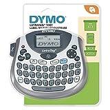Dymo LetraTag LT-100T Beschriftungsgerät | Tragbares Etikettendrucker mit QWERTZ Tastatur | silber...