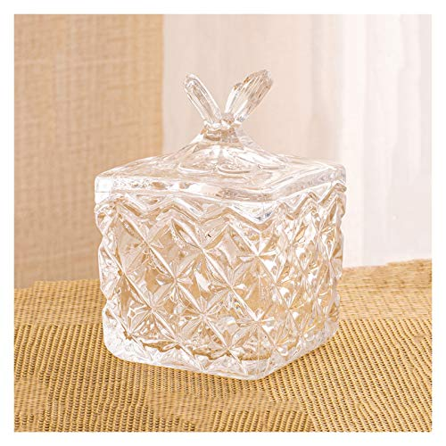 Azucarero Cubos de azúcar de vidrio Cafe Cube Cube Bowl Dulces Tea y los tanques de almacenamiento de frutas secas son adecuados para salones, oficinas, hoteles, etc. Azucarero de Cocina ( Color : B )