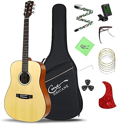 Guitarra acústica de tamaño completo de 4/4, Hricane 41...