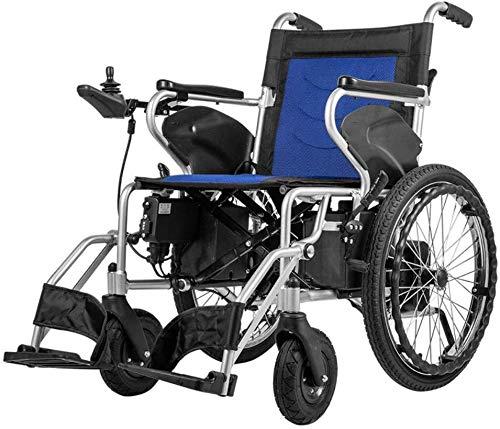 DBXOKK-Rollstuhl Motion Healthcare lite Trekker Powerchairs - Elektromotorischer Rollstuhl für Erwachsene Zwei Hochgeschwindigkeitsmotoren, blueA, Einzelsteuerung