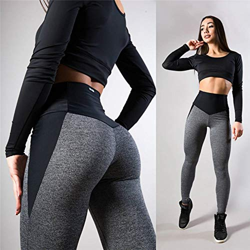 WWZEMLK Yoga Broek, Grijs Leggings Sport Vrouwen Fitness Hoge Taille Naadloze Leggings Push Up Running Yoga Broek Energie Meisje Leggins Casual En Comfortabele Losse Elasticiteit, S