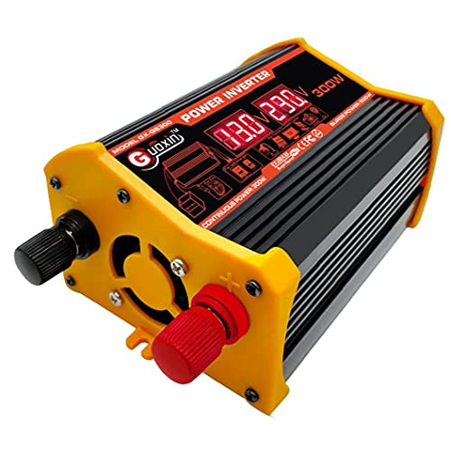 Power Inverter 300W Car DC 12V to 110V AC Converter with Dual USB Car Charger Adapter Display,Inverter