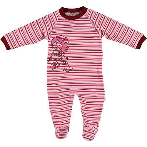 Schlafanzug gestreift rosa/pink Größe 56