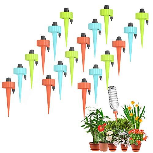 YHmall 18 Stück Bewässerungssystem Automatisch Bewässerung Set Instellbar Einfaches Zum Gießen von Gartenpflanzen Blumen Bewässerung Zimmerpflanzen Pflanzen