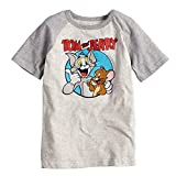 Jumping Beans Boys 4-10 Tom and Jerry Best Buds Raglan Graphic Tee 7 Oatmeal Heather