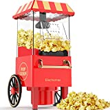 Popcorn maker, Elechomes 1200W hot air retro edition, with overheating protection and temperature control, No oil needed to make fresh and healthy popcorn