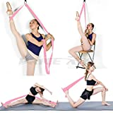 Adjustable Leg Stretcher Lengthen Ballet Stretch Band - Easy Install on Door Flexibility Stretching Leg Strap Great Cheer Dance Gymnastics Trainer Stretching Equipment Taekwondo Training (Pink) from Price Xes