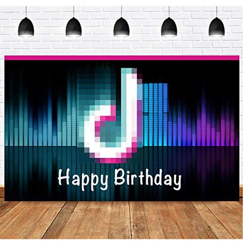 Happy Birthday Banner, T-i-k T-o-k Happy Birthday Banner, Soft Fabric Banner for Happy Birthday Party Decorations