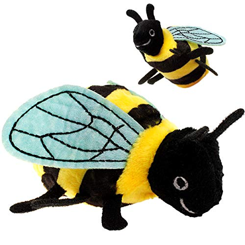 alles-meine.de GmbH 2 Stück _ Fingerpuppen - Biene - Plüsch - Fingertiere / Fingerspielpuppen - Handpuppen / Handspielpuppen - Honigbiene Honig Hummel / Wespe Vogel - superweich ..