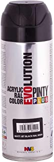 PINTYPLUS EVOLUTION 597 Pintura Spray Acrílica 520cc Matt Jet Black Negro Mate Ral 9005 Estándar