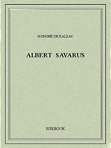 Couverture du livre Albert Savarus