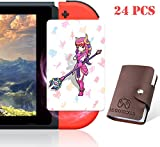 NFC Tag Game Cards for The Legend of Zelda Breath of The Wild Switch / Wii U- 24pcs Cards with Holder