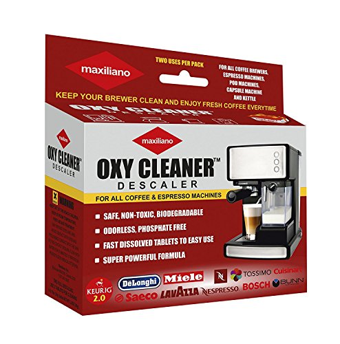 Maxiliano Descaling For All Coffee Brewers, Quick Tablets, Compatible with Keurig 2.0, Tassimo, DeLonghi, Saeco, Lavazza, Nespresso, Cuisinart, KitchenAid, Hamilton Beach etc