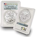 2020 Philadelphia Mint (P) Silver American Eagle MS-70 (First Day of Issue - Emergency Production) Flag Label by CoinFolio $1 MS70 PCGS