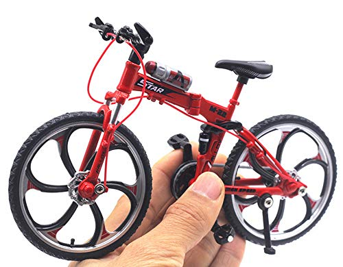 HAPTIME 6.92 inch Zinc Alloy Racing Bicycle Mountain Bike Mini Bicycle Model Cool Toy, Great for Cake Topper Home Decoration Crafts