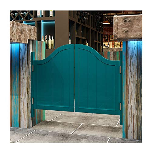 Saloon Schwingtür Cafe Bar Küche Eingang Restaurant Drinnen Verwenden Holz Raumteiler Scharniere Inbegriffen, Anpassbar (Color : B, Size : 100x70cm)