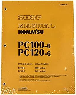 Komatsu PC100-6, PC120-6 Excavator Workshop Repair Service Manual - Part Number # SEBM003307