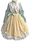 KTZAJO Vestido de Lolita Gótica de Encaje Medieval Victoriano Suave Vestido de Princesa Vestido de Halloween para Niñas (Color: Verde, Tamaño: Grande) (Color: Vestido, Talla: Grande)