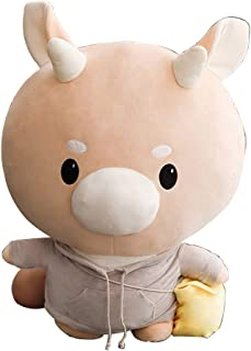 Accessories Cow Doll Plush Toy Hard Cow Figurine Child Doll Decoration Cartoon Gift Girl Boy Birthday Present (Color : Brown, Size : 80cm)