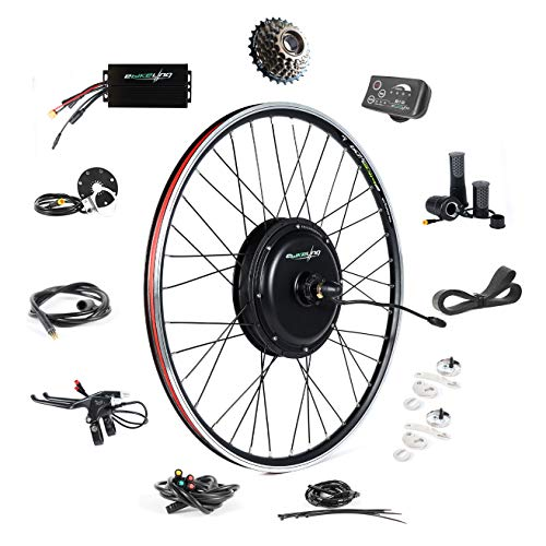 EBIKELING 48V 1500W 700C Direct Drive Waterproof Electric Bike Kit - Ebike Conversion Kit - Electric Bike Conversion Kit (Rear/LED/Twist)