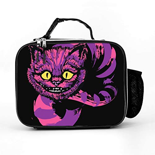 Customized Laptop Sleeve Grinning Like A Crazy Cat 3D Notebook Sleeve Durable Polyester Laptop Computer Case for Co-Workers Friends White one Size