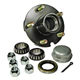 Rigid Hitch Trailer Hub Kit (BT-150-04-A) 5 Bolt on 4-1/2 Bolt Circle with 1 Inch I.D. Bearings Review