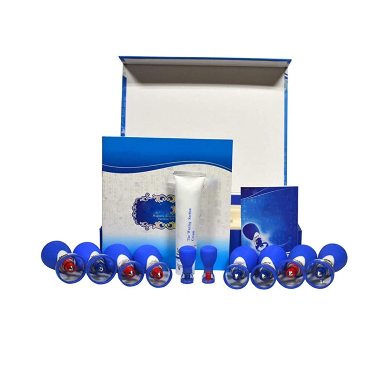 磁気カッピング、10カップ磁気指圧吸引カッピングセット、マッサージ筋肉関節痛の軽減
