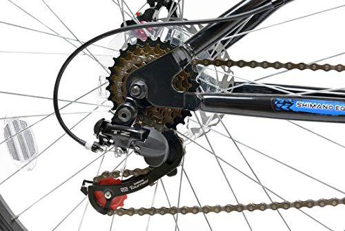 Mountain Bikes Basis 1 Full Suspension Mountain Bike Disc Brakes 18 Speed Black Blue