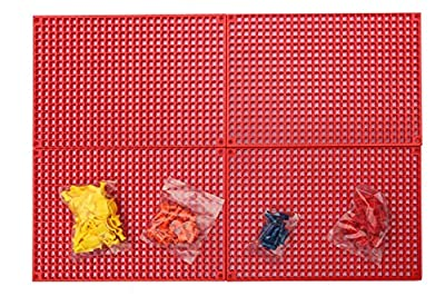 Organizer Genie 76 Piece Pegboard Tool Organizer Kit, Flexible and Specially Designed to Hold All Tools - 4 Modular Peg Boards (11 x 7-5/8 x 7/16 inch), 36 Socket Holders, 36 Universal Clips