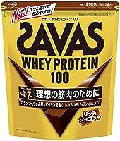 【Amazon.co.jp 限定】【特大】明治 ザバス(SAVAS) ホエイプロテイン100+ビタミン リッチショコラ味 【120食分】 2,520g