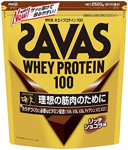 【Amazon.co.jp 限定】【特大】明治 ザバス(SAVAS) ホエイプロテイン100 ビタミン リッチショコラ味 【120食分】 2,520g