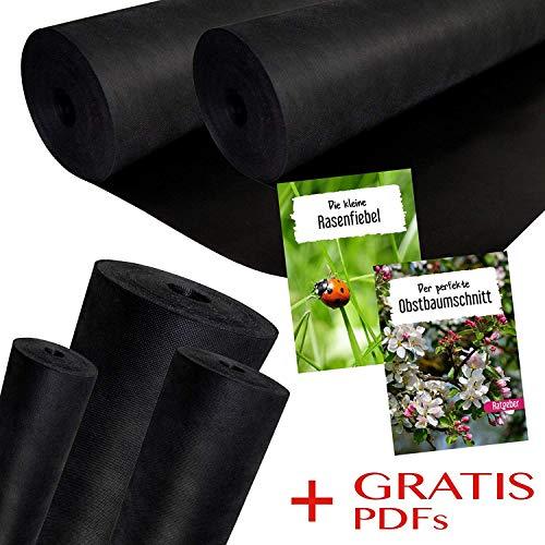 Unkrautvlies/Gartenvlies 150 g/m² Grammatur   1,6m Breite x 30m Länge = 48m² Fläche