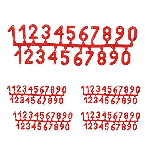 TOPINCN Número Tarjeta Digital Colmena plástico
