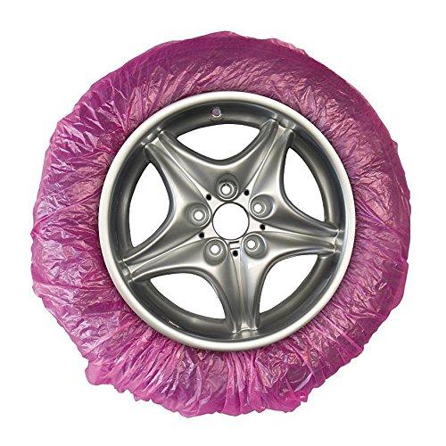 Reifenabdeckung für Felgenlackierung I 20 Stück (1 Karton) I Abdeckung der Reifen I lackhaftend I Lackierfolie I Reifenschutz I Lackierzubehör