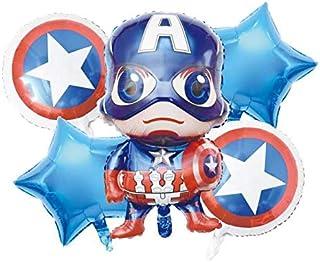 Party Propz 5 Pcs Marvel Avengers Foil Balloon Bundle - Avengers Foil Balloon Bouquet - Happy Birthday Foil Balloon Decora...