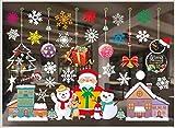 Yisscen Vinilos navideños, Calcomanías para Ventanas Decoración navideña Copos de Nieve, Decoraciones para Ventanas, Cuadros de Ventanas para Puertas, escaparates, vitrinas, frentes de Vidrio