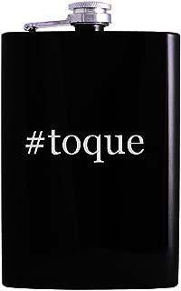 #toque - 8oz Hashtag Hip Alcohol Drinking Flask, Black