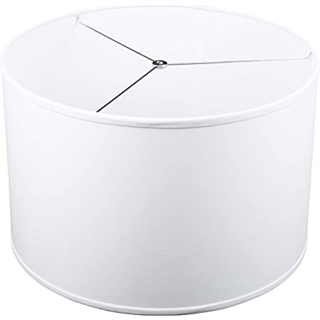 Fenchelshades Com 20 Top Diameter X 20 Bottom Diameter 11 Height Fabric Drum Lampshade Spider Attachment White
