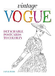 Vintage Vogue: Detachable Postcards to Color