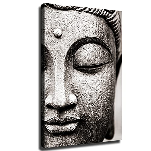God Buddha Wall Art Prints Buddha Statue Canvas Painting Buddhism Wall Pictures For Living Room Religious Posters Wall Decor (Unframed,8x12 inch)