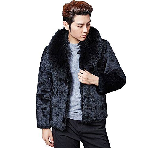 FRAUIT dikke wollen mantel heren warm winterjas mannen faux voor parka mode prachtig design warm ademend comfortabele korte kleding blouse Top Outwear Coat S-3XL