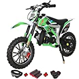 X-PRO Bolt 50cc Dirt Bike Gas Dirt Bike Kids Dirt Bikes Pit Bikes Youth Dirt Pitbike 50cc Mini Dirt Bike with Gloves, Goggle and Handgrip,Green