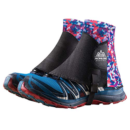 TRIWONDER Reflective Trail Gaiters Running Gaiters Low Ankle Gators with UV Protection for Men Women (Purple)