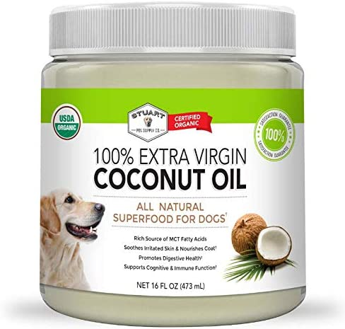 Stuart Pet Supply Co Coconut Oil for Dogs 16oz Certified Organic Extra Virgin Superfood Supplement product image