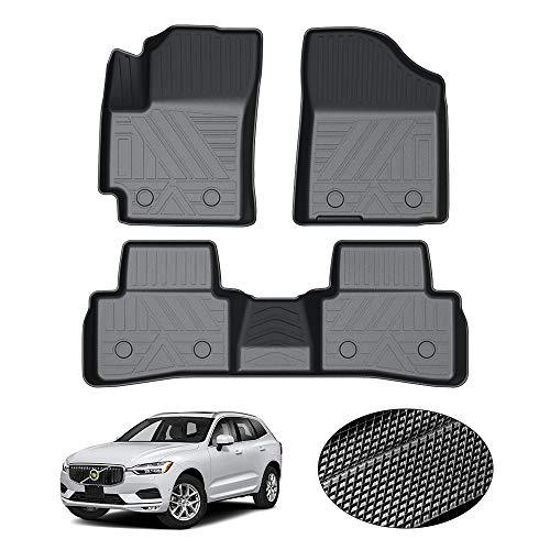 KUST 2020 - Alfombrillas antideslizantes para Volvo XC60 2018-2021 sin olor para piso para 2020 XC60 1ª y 2ª fila para todo tipo de clima